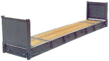 40' Flat Rack Refurbished